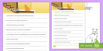 Cat Quiz Cards - reminiscence, pets, ideas, support, Pets as Therapy, Communication, cats, cat, quiz