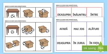 Cuvinte care exprimă locul Bingo - cuminicare, exprimare corectă, română, activități,Romanian