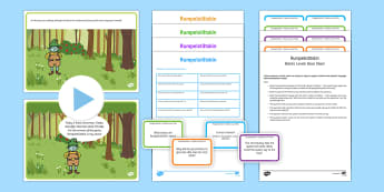 Rumpelstiltskin with Blanks Level Questions - Blanks Levels, Language for Thinking, receptive language, inferences, verbal reasoning, speaking and