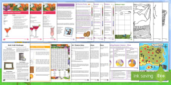 KS2 Summer Fun in the Holidays: In the Garden Activity Pack - parents, summer holidays, school holidays, garden, garden activities, party, garden games, bush craf