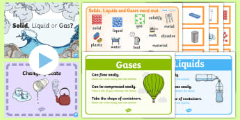 Changing State: Solids, Liquids and Gases Teaching Resource Pack - Materials, Properties, Particles, Science, Investigate, Experiment,,Scottish