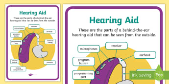 Hearing Aid Display Poster - Deaf, Teacher of the Deaf, ToD, Audiology, audiologist