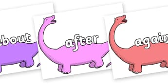 KS1 Keywords on Apatosaurus to Support Teaching on Harry and the Bucketful of Dinosaurs - KS1, CLL, Communication language and literacy, Display, Key words, high frequency words, foundation stage literacy, DfES Letters and Sounds, Letters and Sounds,