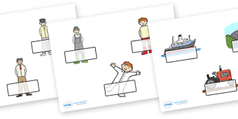 Editable Self-Registration Labels to Support Teaching on Katie Morag - Self registration, register, Mairi Hedderwick, story, scotland, book, resources,, editable, labels, registration, child name label, printable labels,  book, scottish, book, resour