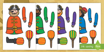 Split Pin Pirate Activity - split pin, pirates, split pin pirates, pirate split pin, split pin pirate activitity, split pin cut outs, pirate cut outs