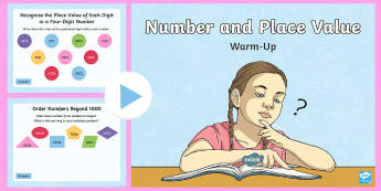 Year 4 Number and Place Value Maths Warm-Up PowerPoint - KS2 Maths warm up powerpoints, Year 4 maths warm up, year 4 maths warm up, Year 4 maths warm up powe