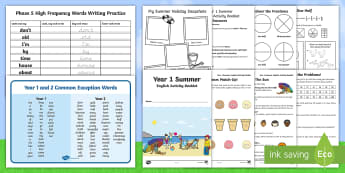 Summer Holiday Transition Year 1 Moving into Year 2 Activity Pack - KS1 New Class Activities