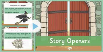 Story Openers PowerPoint - story, openers, powerpoint, literacy, english, ks2