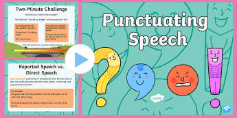 Punctuating Speech PowerPoint - punctuating, speech, powerpoint