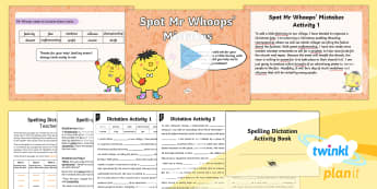 PlanIt Y5 Term 2A Assess and Review Spelling Pack - Spellings Year 5, Y5, spelling, PlanIT, assess, review, assessment, pack, weeks, lists, mr whoops, d