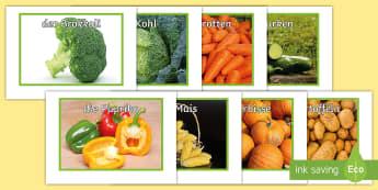 Gemüsesorten Fotos für die Klassenraumgestaltung - Gemüse, Fotos, Essen, DAF,DAZ
