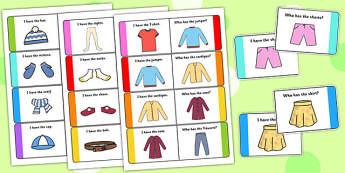 Clothes Loop Cards - clothes, loop cards, loop, cards, clothing