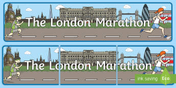 The London Marathon Display Banner - london, marathon, running, charity, fun run, running race