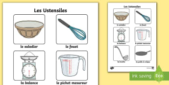 Cooking Utensils Poster - French - La, Chandeleur, (candlemass), French