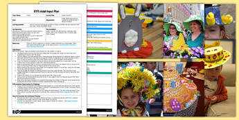 Easter Bonnets EYFS Adult Input Plan and Resource Pack - easter activity