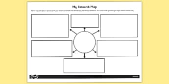 My Research Map Template - research, map, template, research map