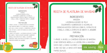 Receta: Plastilina de Navidad - navideño, moldear, plástica, artística, playdough, manualidades, purpurina, aceites, colorantes,