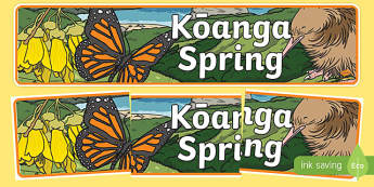 New Zealand Spring Display Banner Te Reo Māori Translation