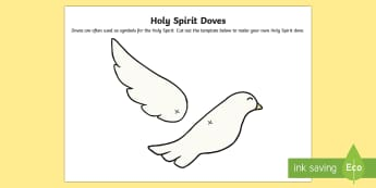 Holy Spirit Doves Activity Sheet - CfE Catholic Christianity, prayers, mass responses, holy spirit, doves, pentecost,worksheet