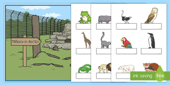 Zoo Animals Self-Registration Display Pack - EYFS, Early Years, name labels, register, Zoo, attendance chart.