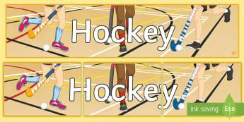Hockey Display Banner - Winter, Sport, display, banner, title