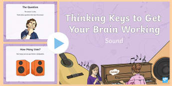 Sound Thinking Keys PowerPoint - science, sound, thinking keys, thinkers keys, energy and forces, critical thinking, questions, power