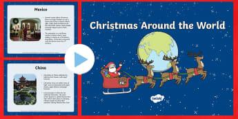 Christmas Around the World PowerPoint - Christmas, Powerpoint, Cultures, Santa Claus, around the world