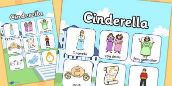 Cinderella Vocabulary Poster - cinderella, vocabulary, poster