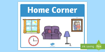 Home Corner Sign - home corder, sign, display, home, corner