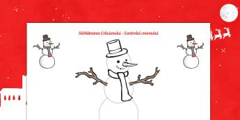 Controlul creionului - Activități cu imagini de Crăciun - craciun, motricitate fină, elemente grafice, fișe, activități, română, materiale, Romanian