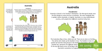 Australia Information Report Writing Sample - Literacy, Australia Information Report  Writing Sample, writing sample, english, australian curricul