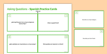 General Conversation Me, My Family & Friends Double Sided Cards Spanish