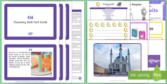 Eid Discovery Sack - EYFS, Early Years, KS1, Understanding the World, exploration, discovery, finding out, facts, information, Islam, religion, festival, celebration, Muslim, Eid