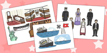 The Titanic Picture Cut Outs - titanic, cut out, history, display