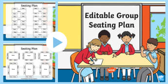 Editable Group Seating Plan PowerPoint - seating plan, classroom layout, learning names, group names, table names, table plans, table groups,