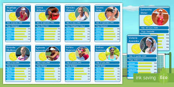 Wimbledon Top Card Game French - wimbledon, KS3, french, top, cards, game, tennis, roland, garros, numbers, birthdays, speaking, reading,French