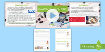 Should We Privatise the NHS? Debate Pack - hospital, doctor, health, government, economy, private, ks3, discussion, SMSC, British Values