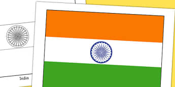 India Flag Display Poster - geography, countries, display, india