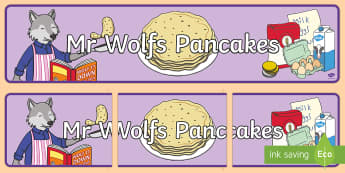 Display Banner to Support Teaching on Mr Wolf's Pancakes - mr wolfs pancakes, banner