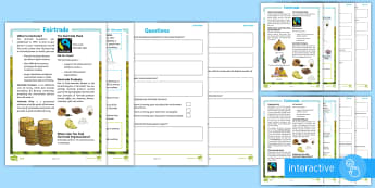 Fairtrade Differentiated Comprehension Go Respond Activity Sheets - KS2, comprehension, reading, reading comprehension, reading activity, geography, equality, fair, tra