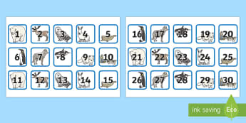 1-100 on Polar Region Themed Square Cards - 1-100, arctic, square cards, square, cards, antarctic, polar regions