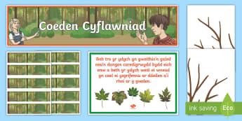 Pecyn Arddangosfa Coeden Cyflawniad Parod - Adnoddau Arddangos, General Displays, welsh displays, welsh display, new display, maths, english, re