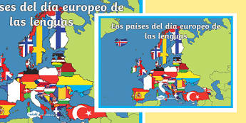 El día europeo de las lenguas A2 Display Poster-Spanish