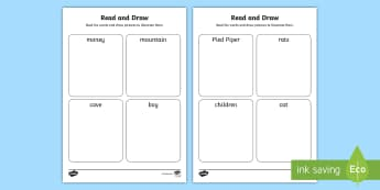 The Pied Piper Read and Draw Worksheet - read, draw, worksheet