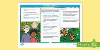 KS1 Grandparents Day Teaching Ideas - grandparents day, visitor day, teaching schedule, Itinerary, y1 and y2
