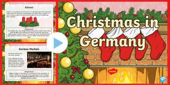 KS2 Celebrating Christmas in Germany PowerPoint - Christmas, Nativity, Jesus, xmas, Xmas, Father Christmas, Santa, St Nic, Saint Nicholas, traditions,