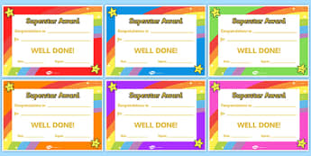 Certificates awards printable certificates for super star award certificates yadclub Gallery
