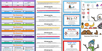 EYFS Bumper Planning and Resource Pack to Support Teaching on The Snowman - Christmas, eyfs planning, early years planning