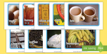Fairtrade Display Photos English/Mandarin Chinese - Fairtrade Display Photos - fairtrade, photos, photograph, display,EAL