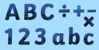 Blue Abyss Display Lettering - water, under the sea, blue, water, deep sea diving, abyss, underwater, shipwreck.